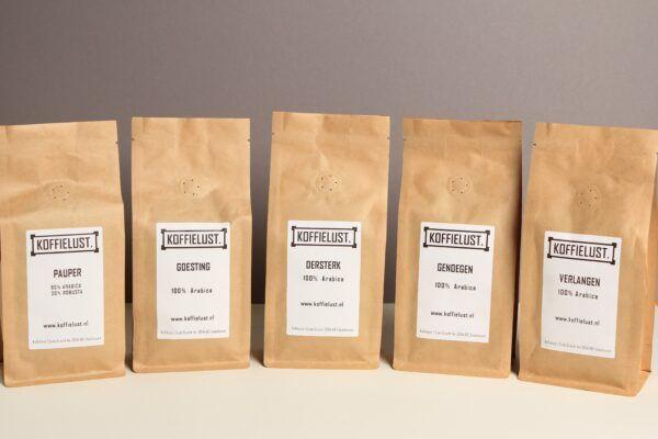 Koffielust Koffiebonen Proefpakket