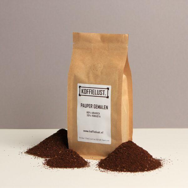 Duurzame gemalen koffie voor snelfilter