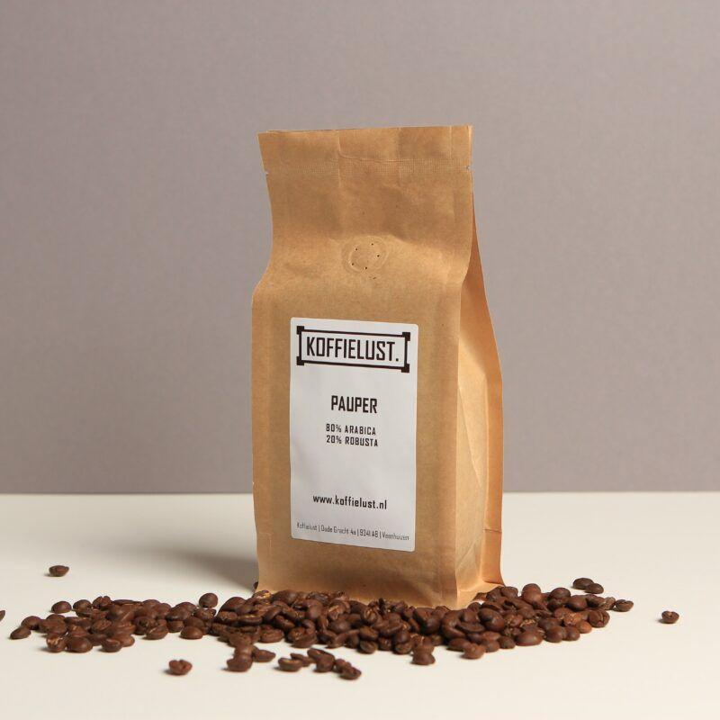 Pauper koffiebonen - eerlijke koffie